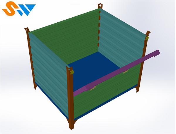 森沃仓储:吊挂式钢制料箱 (1)