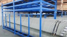 可拆卸管材堆垛架定做案例-森沃仓储