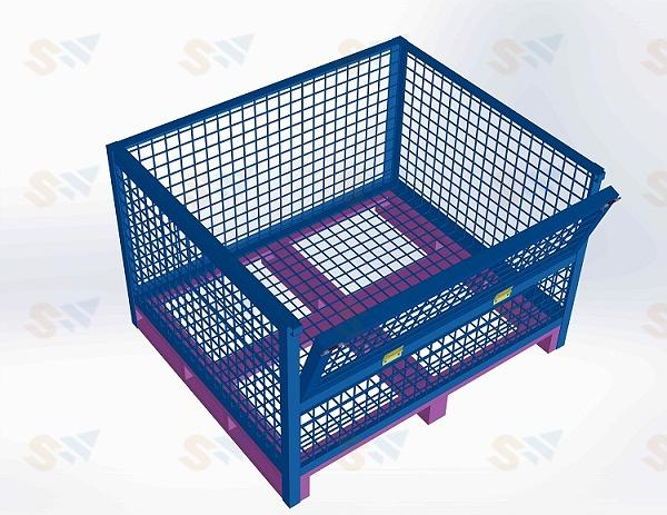 森沃仓储:钢制料箱1