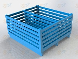 采购定制钢制料箱选择仓储设备厂家—森沃仓储