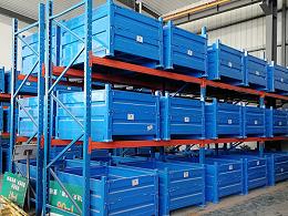 钢制料箱与重型货架的结合