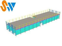 你知道如何将层板货架和钢平台搭配使用吗?
