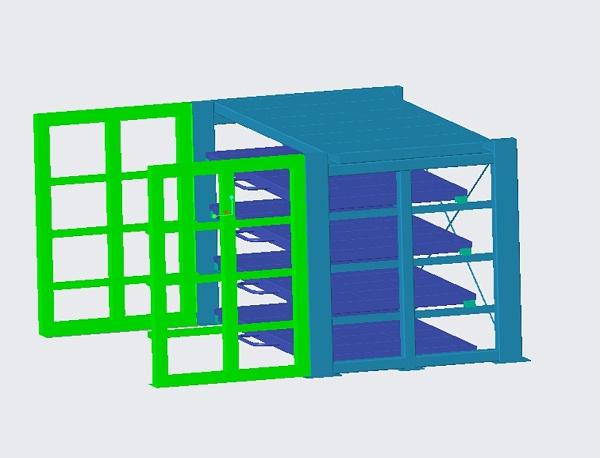 抽拉式板材架效果图
