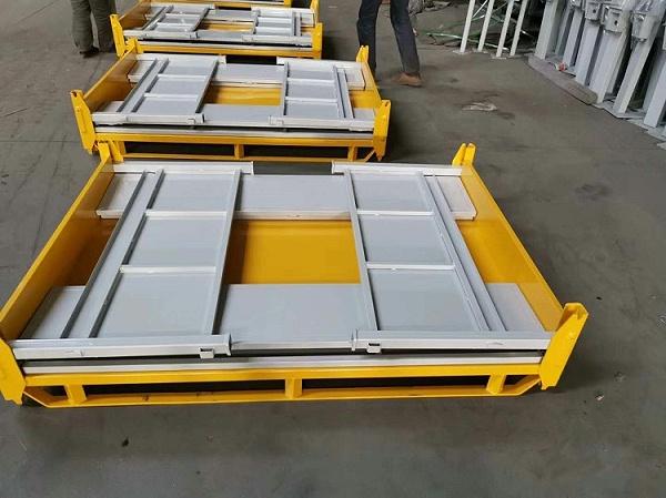 森沃仓储:折叠可叉车钢制料箱仓库现场 (4)