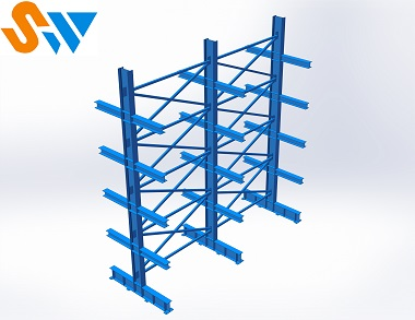 森沃仓储:悬臂货架效果图集 (4)