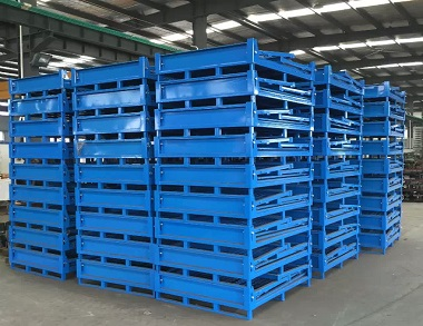 森沃仓储:叉车折叠钢制料箱 (2)