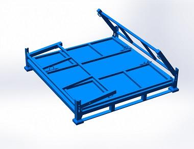 森沃仓储:折叠钢制料箱 (1)