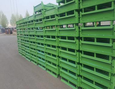 森沃仓储:折叠网格钢制料箱 (2)