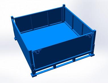 森沃仓储:叉车钢制料箱 (2)