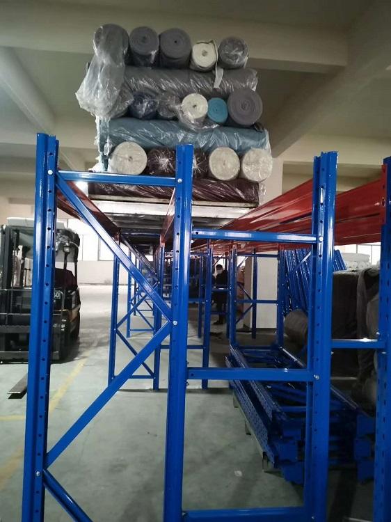 森沃仓储:布料布匹重型货架,一层梁两层货