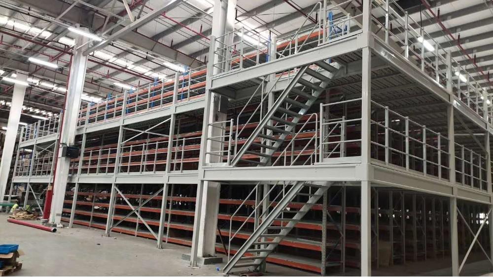 森沃仓储:三层阁楼式货架非标定做案例展示